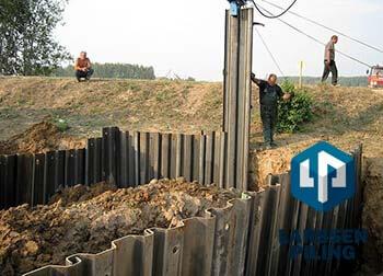 Шпунтирование грунта в строительстве