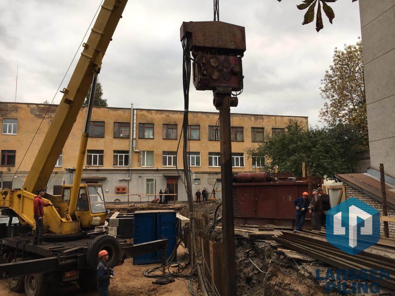 Шпунтовые работы в Воронеже - вибропогружение, выемка